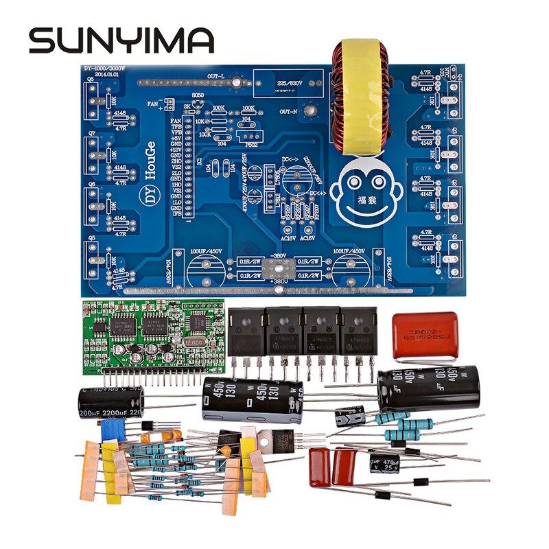 SUNYIMA 1 zestaw 2000W czysta fala sinusoidalna falownik Conventer listwa zasilająca Post sinusoida płyta wzmacniacza transformator zestawy diy