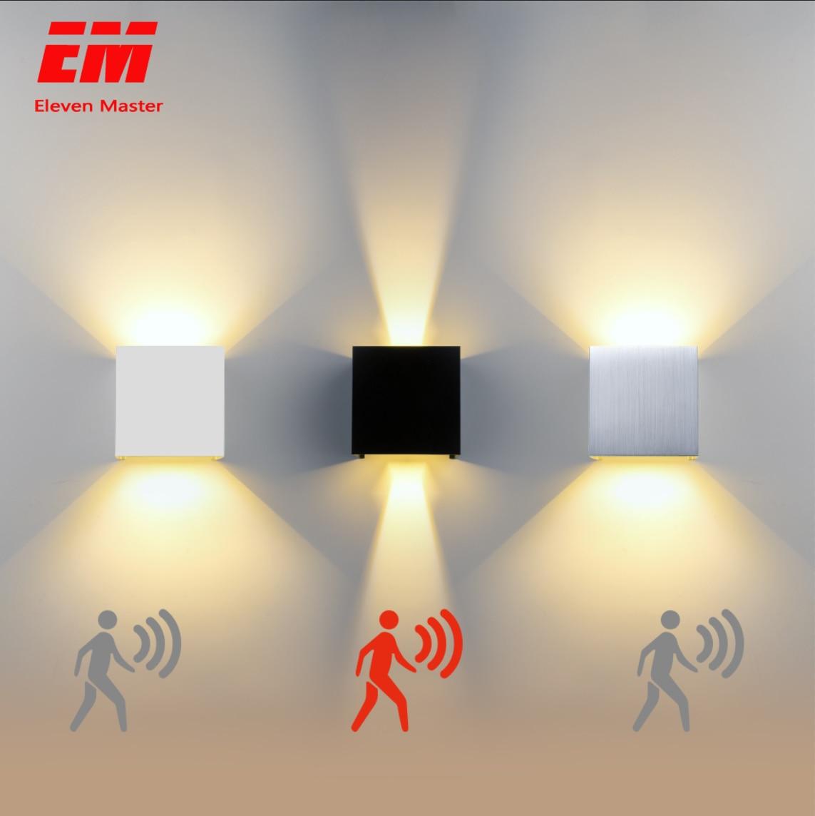 Luce Della Parete del Led IP65 7/10W Esterno Impermeabile dell'interno Ha Condotto La Lampada Da Parete moderna In Alluminio Regolabile angolo di AC90 ~ 260V Luce del Portico ZBW0002