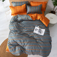 Gelben streifen grau Bettwäsche-sets Voll König Twin Königin König Größe 4Pcs Bettlaken Bettbezug-set Kissenbezug Ohne tröster