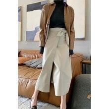 A-Line-Skirt Nanushka Winter High-Waist And Rabbit Ears-Wrap Protein Split Autumn Imported
