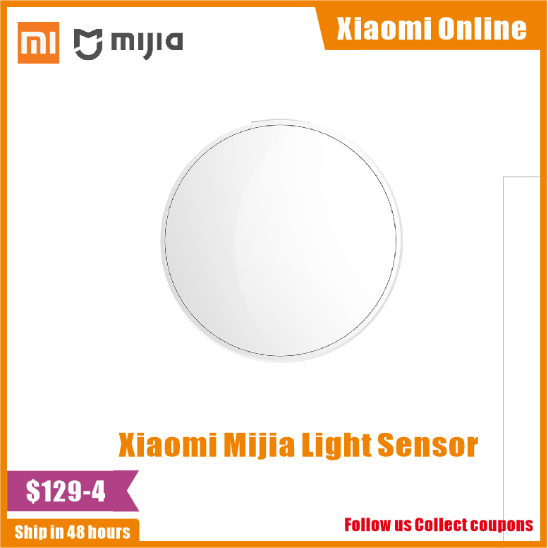 Xiaomi Mijia Smart Home Light Sensor 0~83000 Lux Zigbee 3.0  Light Monitor Work With Xiaomi Multimode ZigBee 3.0 Gateway