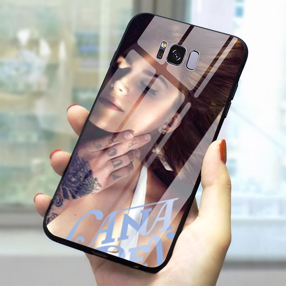 Shockproof Lana Del Rey Glass Phone Cover for Samsung Galaxy A60 M40 Case A70 A50 A40 A20 A30 A10 S7 Edge S8 S9 Plus S10 image