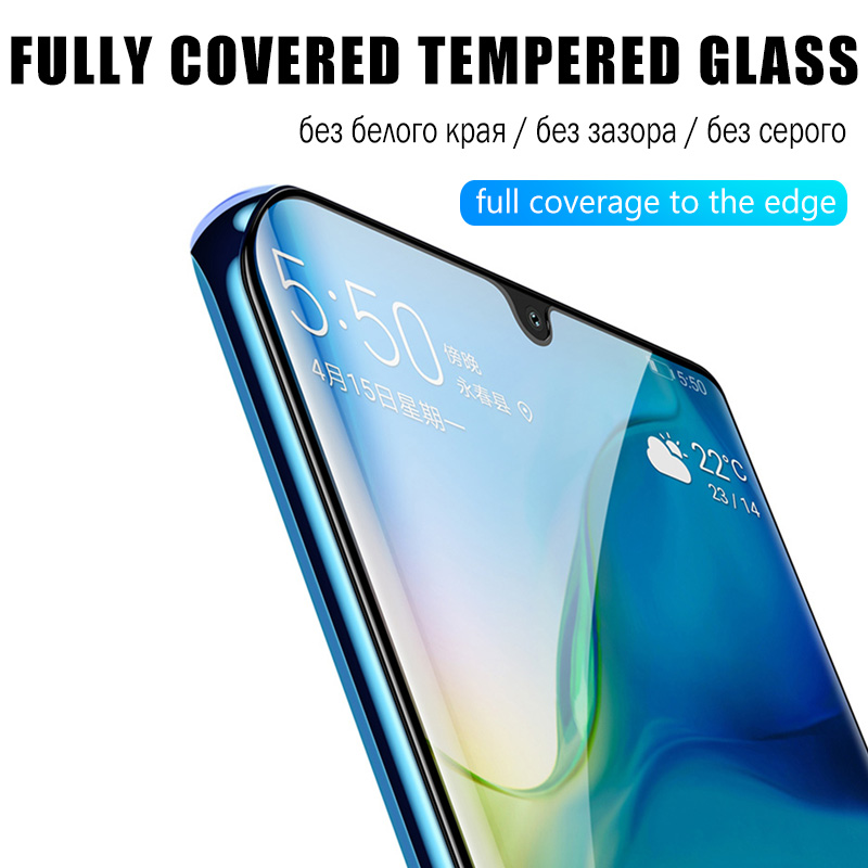 Image 3 - 99D Full Cover Screen Protector For Huawei Y6 Y5 Y7 Pro Y9 Prime 2019 Tempered Glass For Huawei P smart 2019 Glass Protective HDPhone Screen Protectors   -