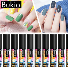 Bukio Farbe Gel Nagellack Set Nägel Weg tränken UV LED Gel Lack Nail art Lack Maniküre Dekorationen Benötigen Top basis Mantel(China)