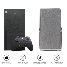 Black Nylon Dust Cover Console Soft Neat Lining Dust Guard Anti Scratch Waterproof Cover Sleeve for Xbox Series X Accessories