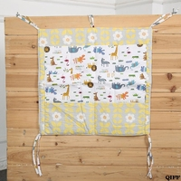 Baby Cot Bed Hanging Storage Organizer Bag Pocket for Toy Diaper Nappy Clothes 18NOV24