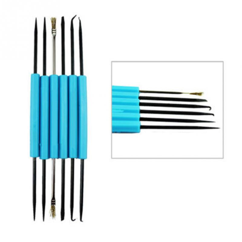 6pcs/lot Steel Solder Assist Tool Set Repair Set Electronic Components Welding Grinding Cleaning Repair Tool For Assembly Work