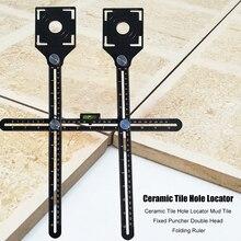 Punch-Tool Tile Locator Adjustable-Tool Floor-Hole Ceramic Height Universal