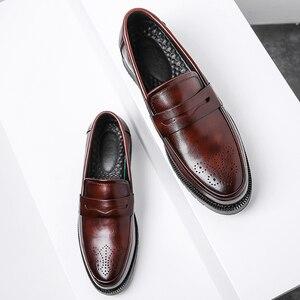 Image 5 - גברים שמלת נעלי מבטא אירי סגנון Paty עור חתונה נעלי גברים עור נעלי אוקספורד נעליים רשמיות