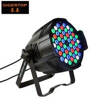 Freeshipping 54 x 3W LED Par Light Non waterproof Aluminum Led Par Cans 3W LED 54 (R:12, G:18, B:18, W:6) 150W DMX 4CH 8CH