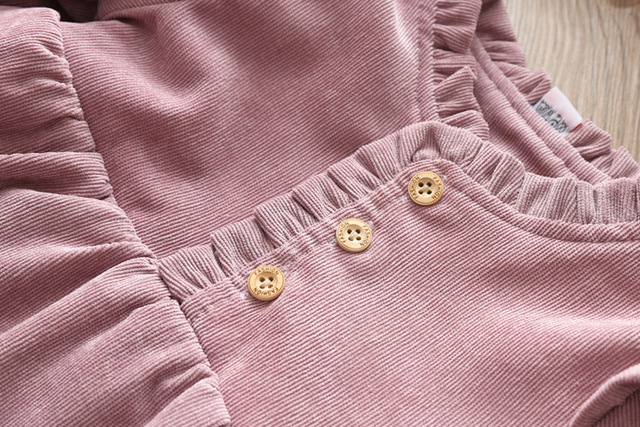 Baby Clothing 2019 Fall Winter Wear Thick warm Baby Girls Princess Dress Velvet long-sleeve dress Party Dresses Baby Clothes 5