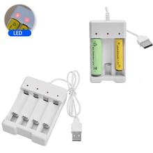 Uniwersalny USB moc wyjściowa 3 4 gniazda baterii przejściówka do ładowarki do baterii AA AAA akumulator szybkie ładowanie baterii narzędzia do ładowania tanie tanio HCQWBING Standardowa bateria H63++
