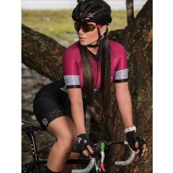 Conjunto de Ropa de triatlón para mujer, Maillot de manga corta para...