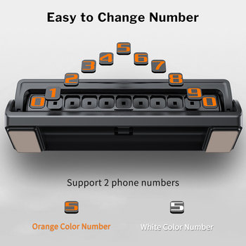 Deelife 自動車電話番号一時的な駐車カードプレートと 2 電話番号隠し Flippable