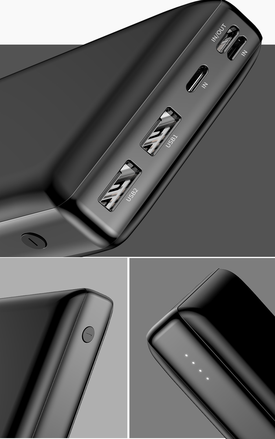 Baseus 30000 мАч Внешний аккумулятор PD USB C Быстрая зарядка внешний аккумулятор для iPhone11 samsung huawei type C портативное зарядное устройство Внешний аккумулятор