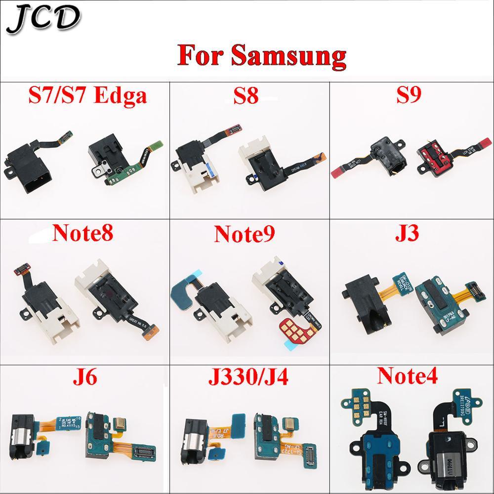JCD Headphone Audio Jack Earphone Socket Flex Cable For Samsung Galaxy S7/S7 Edge  G935 S8 S9 J3 J6 J330 J4 NOTE 4 8 9