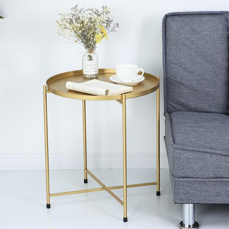 Nordic bedhead recebe pequena mesa de chá o lado do sofá desmontagem mesa dobrável sala de estar móveis mesa de café - 6