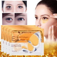 2Pcs=1Pair 24K Gold Crystal Collagen Eye Mask Eye Patches For Eye Care Dark Circles Remove Anti-Aging Wrinkle Skin Care TSLM2(China)