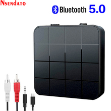 Bluetooth 5.0 Audio Music Transmitter Receiver 2 in 1 3.5mm AUX jack RCA Stereo Music Wireless Audio Adapter For Car TV Speaker