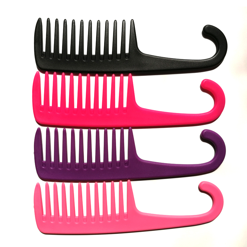Big Teeth Brush Widely Located Tooth Combs Plastic Untangles Well With Curved Hook Brushes Reduce Hair Loss Comb Styling Tools