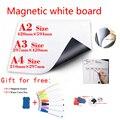 Quadro branco magnético geladeira ímãs seco-apagar calendário crianças escola placa memorando branco presente 7 caneta cor e 1 borracha