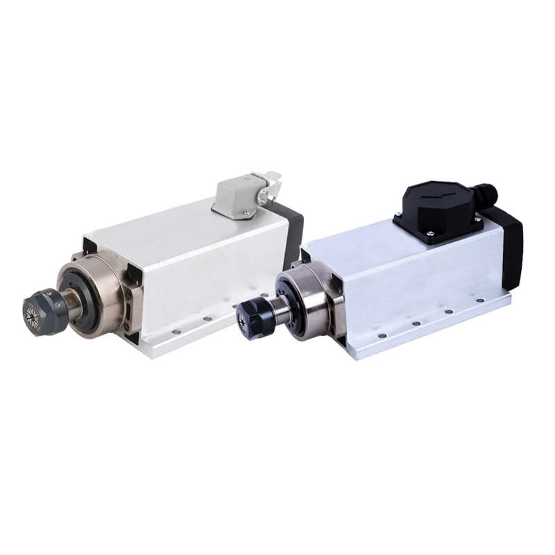 المغزل باستخدام الحاسب الآلي 220 فولت 0.8KW مربع المغزل المحرك تبريد الهواء المحرك نك 800 واط المغزل المحرك آلة أداة المغزل مع التوصيل/كابل صندوق.