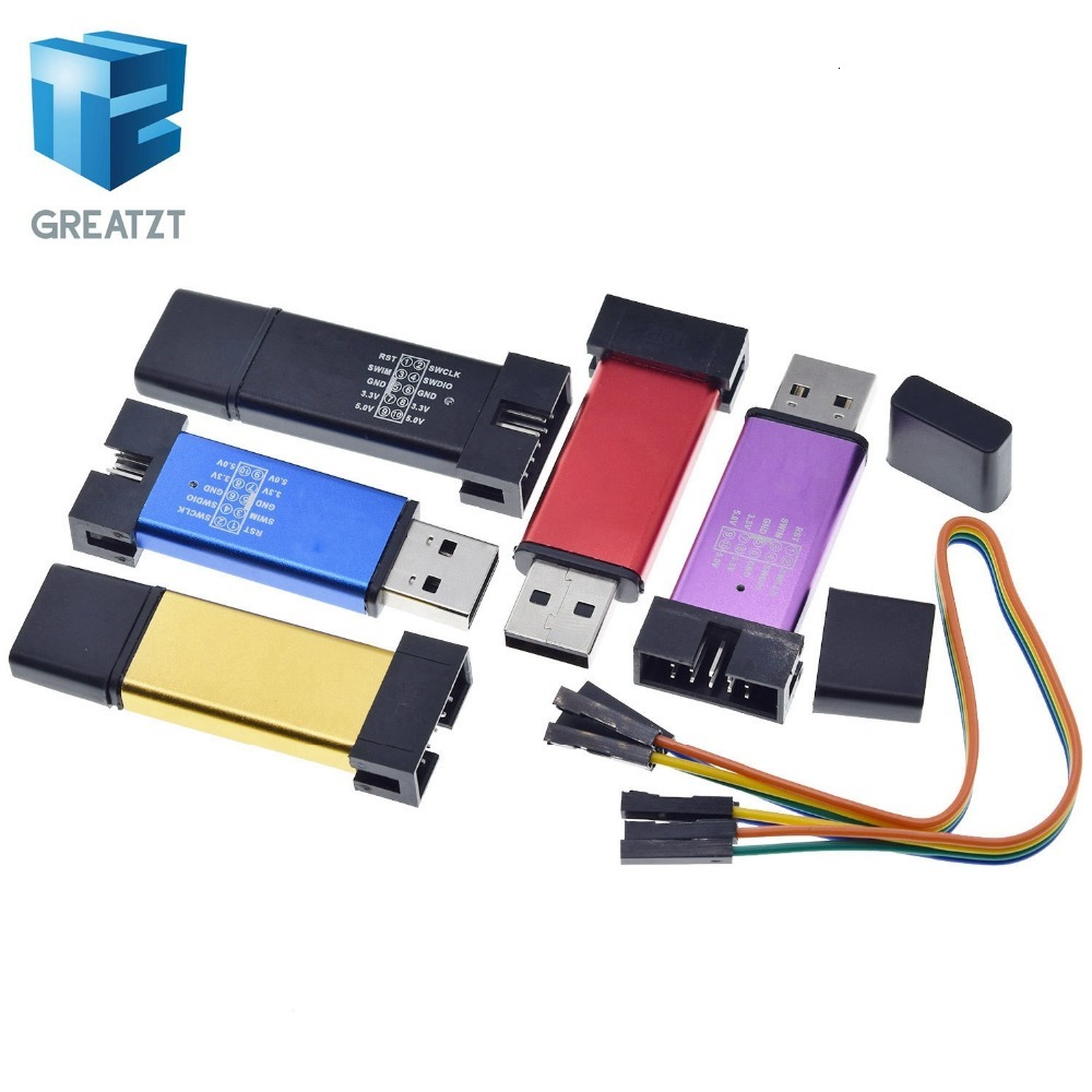 GREATZT ST LINK Stlink ST Link V2 Mini STM8 STM32 симулятор загрузки Программирование с чехлом DuPont Cable ST Link V2|Интегральные схемы|   | АлиЭкспресс
