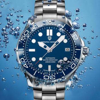 2021 nowy PAGANI DESIGN 007 zegarek automatyczny mężczyźni Dive mechaniczny zegarek ze stali nierdzewnej dla męski luksusowy zegarek mężczyźni reloj hombre tanie i dobre opinie 10Bar CN (pochodzenie) Składane bezpieczne zapięcie Moda casual Mechaniczna nakręcana wskazówka Samoczynny naciąg