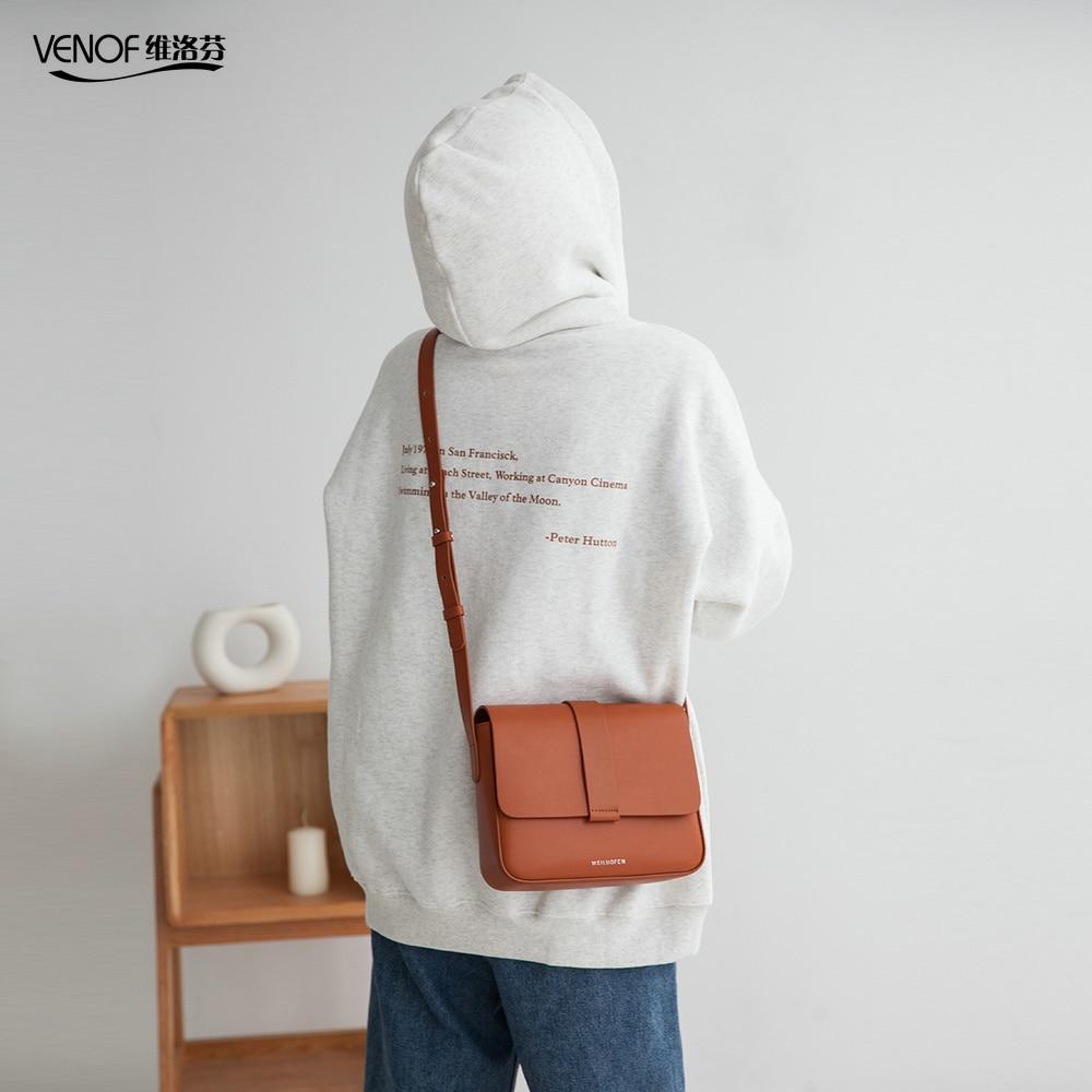 Venof marca feminina split couro crossbody sacos casuais do vintage macio couro da pele sacos de ombro moda saco do mensageiro alta qualidade - 4