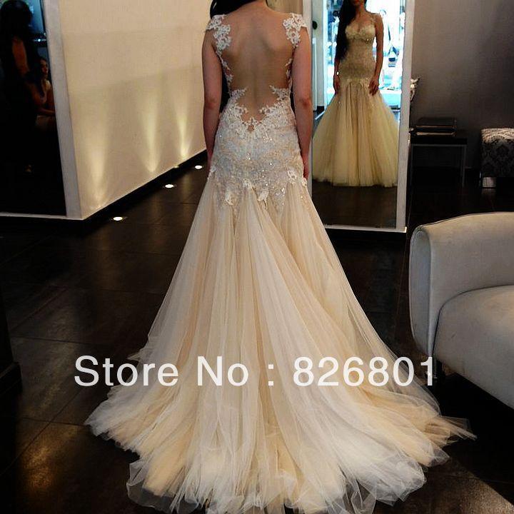 Vestido De Noiva 2018 Sexy Backless Wedding Dresses Tulle Mermaid Country Lace Unique Wedding Dresses 2014 Vestido De Casamento