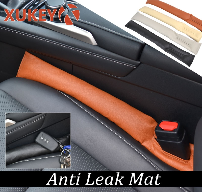 PU Leather Car Seat Cover Gap Pad Protective Leakproof Filler  Black Beige Brown