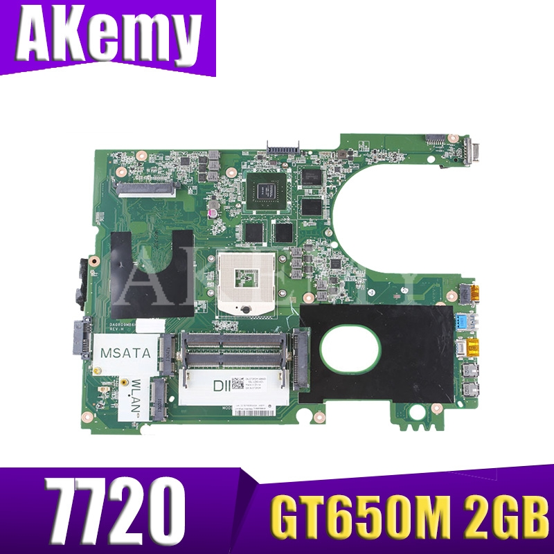 17R N7720 For DELL 5720 7720 <font><b>motherboard</b></font> CN-072P0M 072P0M <font><b>motherboard</b></font> DA0R09MB6H1 DA0R09MB6H3 2D GT650M 2GB work 100% image