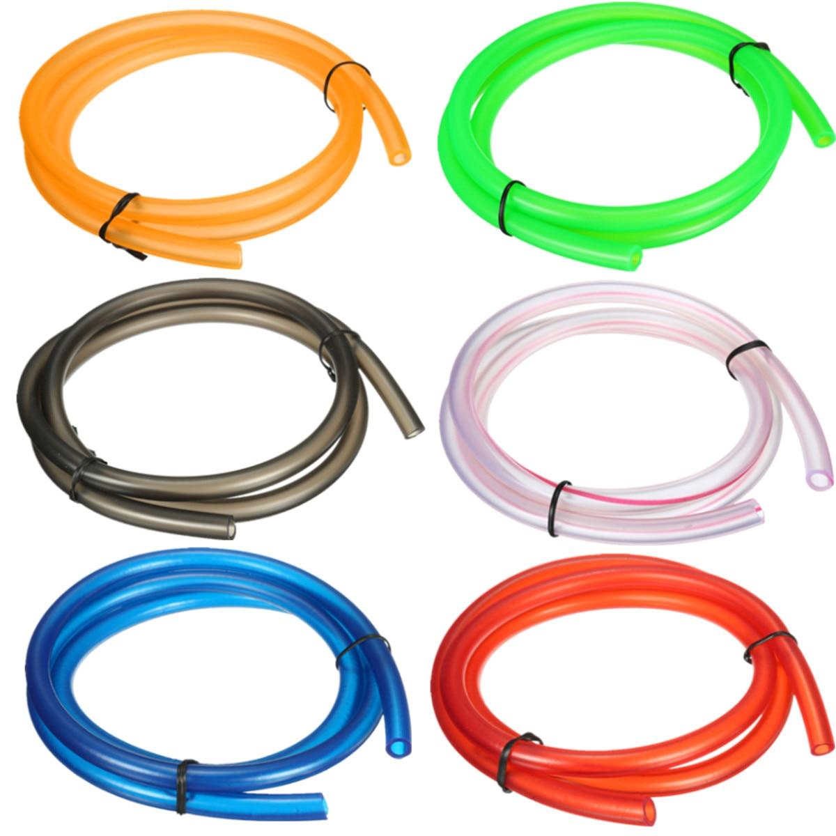1 м нейлоновый мотоциклетный шланг для бензинового топлива, шланг для газового масла, труба для мини-мотоцикла, грязезащитный велосипед, зеленый, красный, черный, оранжевый, розовый, синий