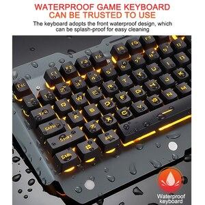 Image 3 - لوحة مفاتيح الألعاب السلكية مريح لوحة المفاتيح مع RGB الخلفية حامل هاتف الألعاب لوحة المفاتيح لسطح المكتب اللوحي ل PUBG