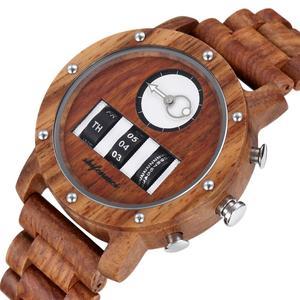 Image 3 - Mens Watch Shifenmei Brand Wood Watches Roll Army Digital Clock Chronograph Luxury New Desgins Wooden WristWatch Reloj Hombre