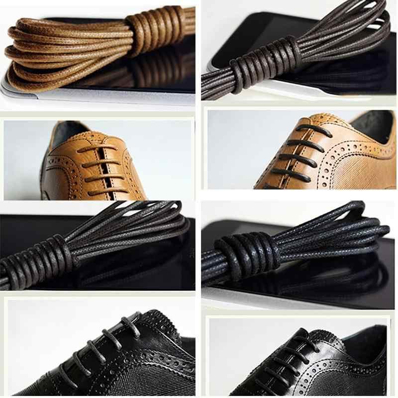 Nylon Ronde Waxed Gekleurde Schoenveters Elastische Lederen Schoenen Strings Boot Sport Veters Koord Casual Athletic Shoe String 75cm