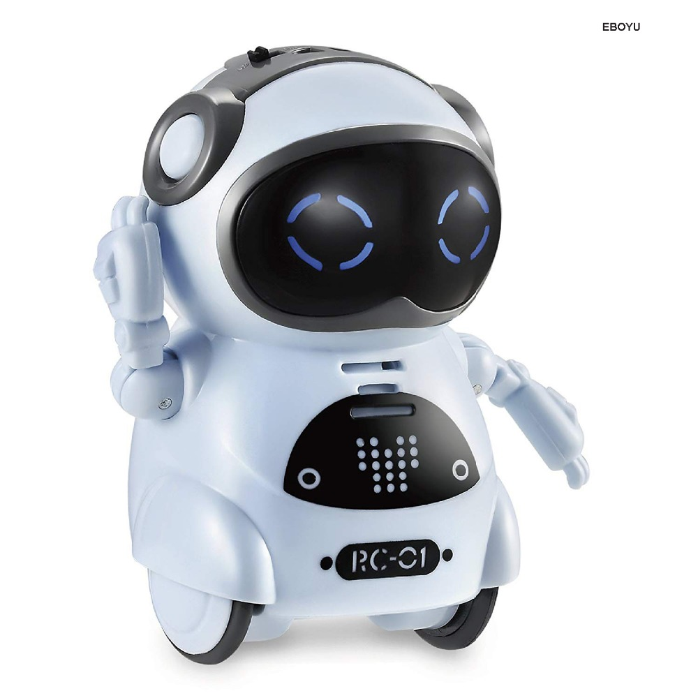 Pocket Robot Talking Interactive Dialogue Voice Recognition Record Singing Dancing Telling Story Mini Intelligent Robot Toy 5