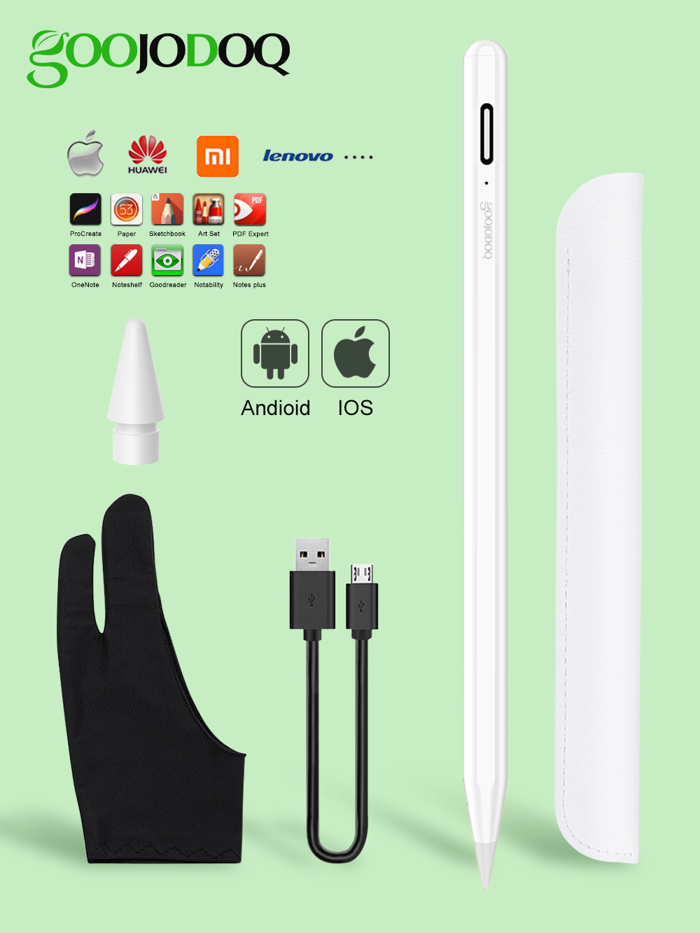 For iPad Pencil Stylus Pen for Apple Pencil 1 2 Touch Pen for Tablet IOS Android Stylus