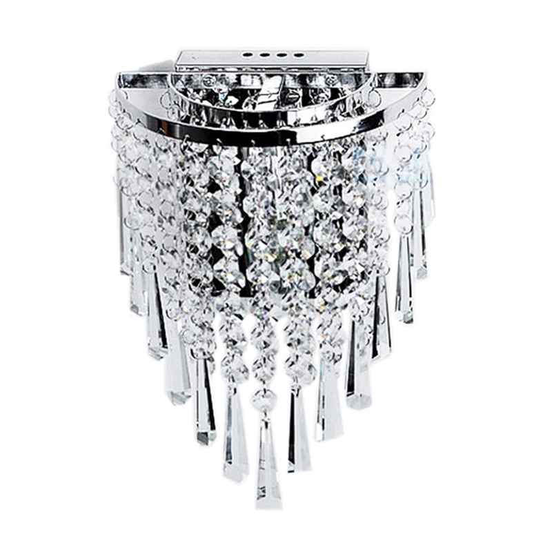 Modern Crystal Wall Lamp Chrome Sconce Wall Light For Living Room Bathroom Home Indoor Lighting Decoration