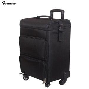 Image 2 - Femmes ongles cosmétique sac beauté valise trolley grand cosmétique maquillage boîte professionnel