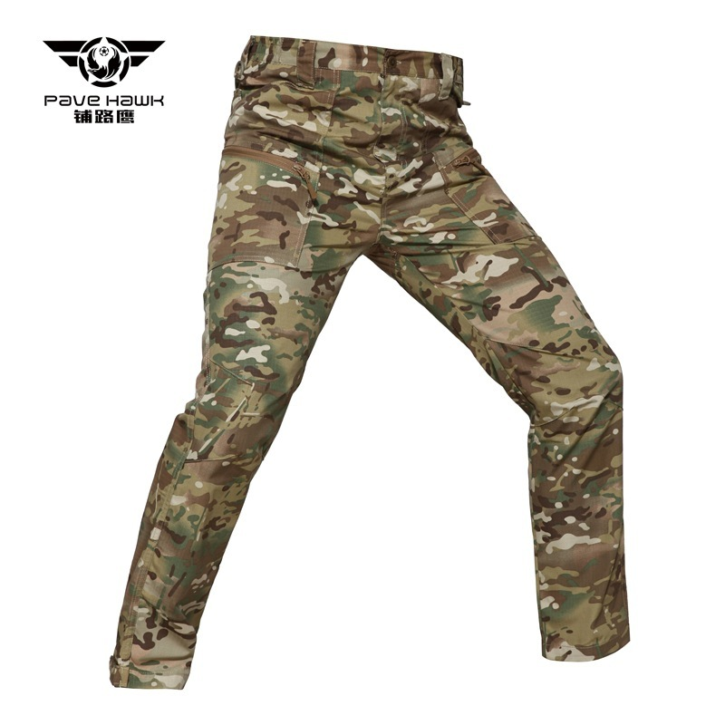 5XL Military Tactical Pants Men's Multi-pocket Camouflage Plaid Trousers Army Fans Outdoor Training Hiking Cargo Pants Overalls