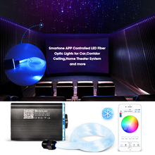 Smart APP control Optic Fiber Lights RGBW Starry Sky Effect Ceiling Light 2-5m Optical Fiber Cable available Car Decoration 16w rgbw rf remote twinkle led fiber optic light kit for ceiling starry effect 335pcs fiber cable with shooting meteor machine