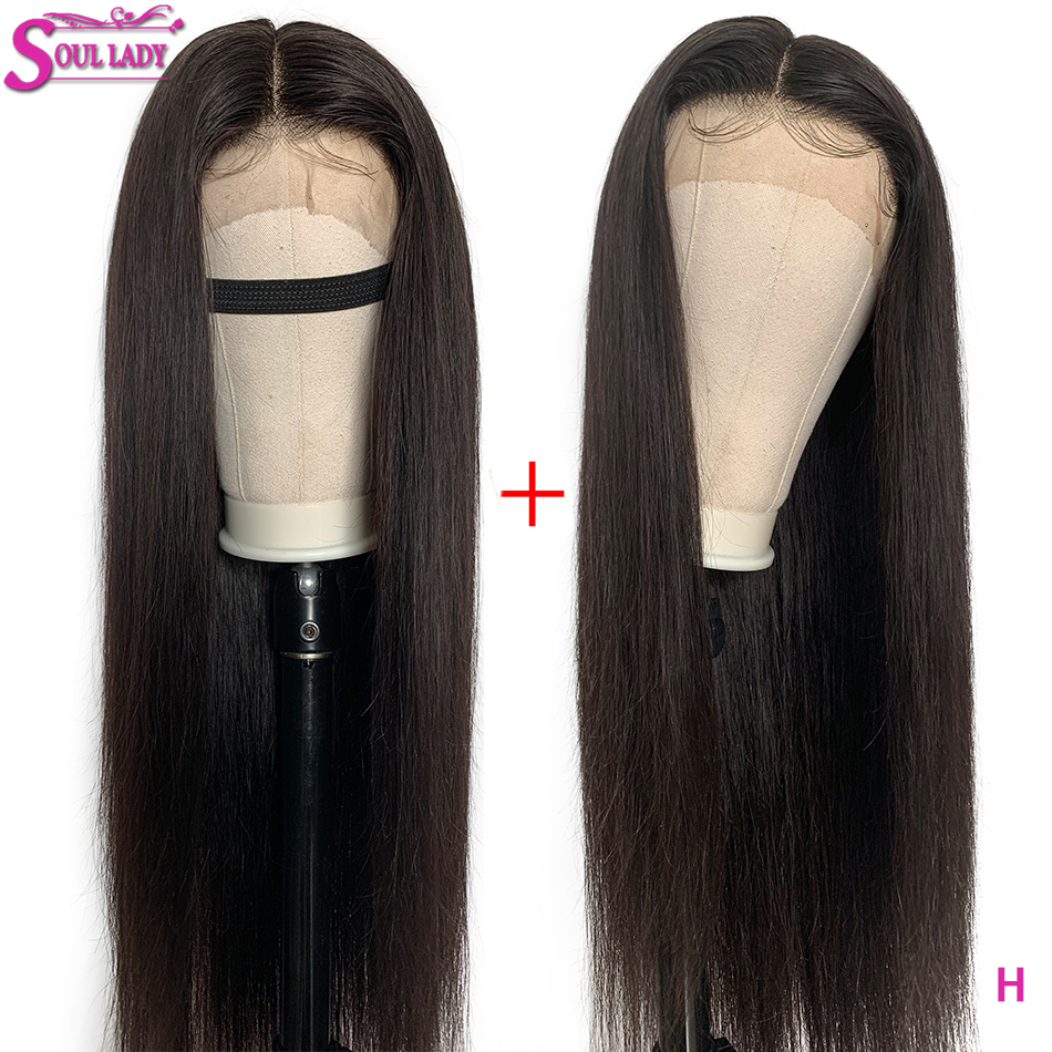 HD Transparent Lace Front Human Hair Wigs Remy Brazilian Hair Straight Lace Front Wigs 150% High Ratio 13x4 Pre Plucked Lace Wig