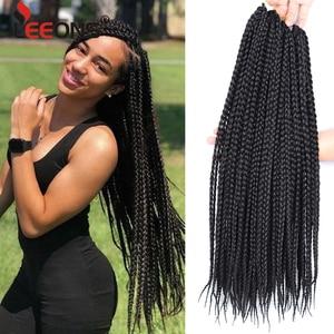 Высококачественные косички Leeons для плетения волос, синтетические косички, косички для плетения крючком, коричневые, светлые, серые, бордовы...