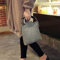 Frauen Retro Tasche Eisen Griff PU Leder Handtasche Schulter Taschen Tragbaren Trage SER88|Taschen mit Griff oben|Gepäck & Taschen -