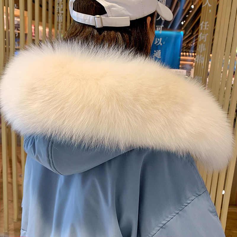 Inverno Femminile Giacca Vestiti Delle Donne 2020 Coreano Caldo di Spessore Anatra Imbottiture Cappotto + di Pelliccia di grandi dimensioni Con Cappuccio delle Donne del Plaid Imbottiture giacca 90728