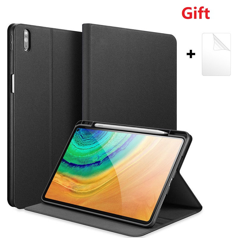 For Huawei Mate Pad Pro 10.8 Tablet Case With Pencil Holder Smart Sleep Stand For Huawei MRX-AL09 W09 W19 AL19 With Soft Film