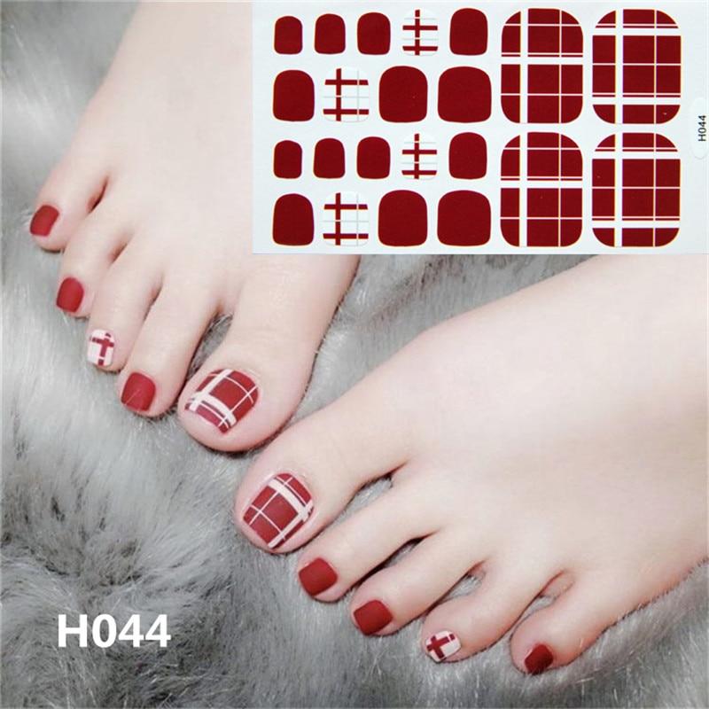 ALI shop ...  ... 32911751801 ... 3 ... 22tips Korea/Japanese Designed Toenail Sticker Full Cover Waterproof Nail Sticker Wraps Toe Nail  DIY Nail Art unas Nail Sticker ...