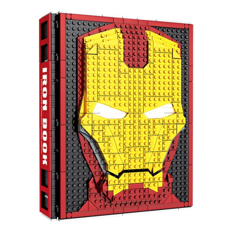 Marvel Avenger Fit Lepining SY1461 Superhero Iron Man Spider Man Book Kit Lepblocks Marvel Avenger Christmas Gifts Toys