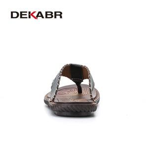 Image 3 - DEKABR Mới Đến Nam Mùa Hè Dép Chất Lượng Cao Dép Đi Biển chống trơn trượt Nam Dép Zapatos Hombre Giày thường nam